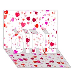 Heart 2014 0601 GIRL 3D Greeting Card (7x5)