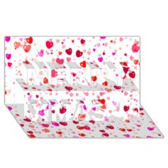 Heart 2014 0601 Merry Xmas 3D Greeting Card (8x4)