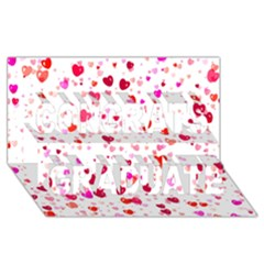Heart 2014 0601 Congrats Graduate 3D Greeting Card (8x4)