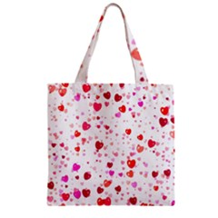 Heart 2014 0601 Zipper Grocery Tote Bags