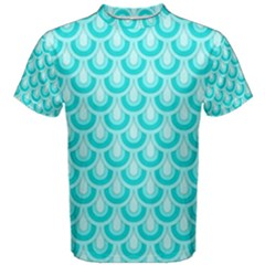 Awesome Retro Pattern Turquoise Men s Cotton Tees