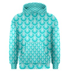 Awesome Retro Pattern Turquoise Men s Pullover Hoodies