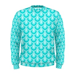 Awesome Retro Pattern Turquoise Men s Sweatshirts