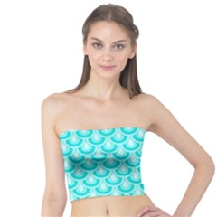 Awesome Retro Pattern Turquoise Women s Tube Tops