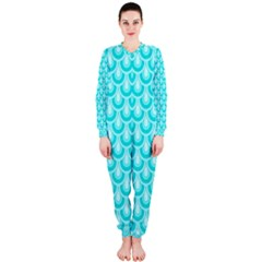 Awesome Retro Pattern Turquoise OnePiece Jumpsuit (Ladies)