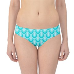 Awesome Retro Pattern Turquoise Hipster Bikini Bottoms