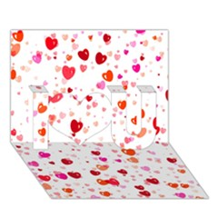 Heart 2014 0602 I Love You 3D Greeting Card (7x5)