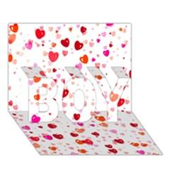 Heart 2014 0602 BOY 3D Greeting Card (7x5)
