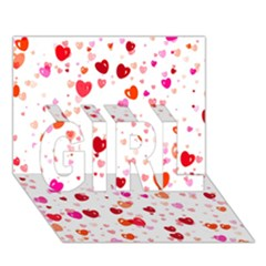 Heart 2014 0602 GIRL 3D Greeting Card (7x5)