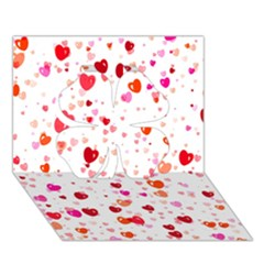 Heart 2014 0602 Clover 3D Greeting Card (7x5)