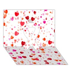 Heart 2014 0602 Ribbon 3D Greeting Card (7x5)