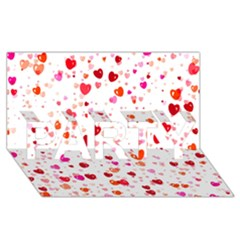 Heart 2014 0602 Party 3d Greeting Card (8x4)