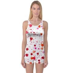 Heart 2014 0602 Women s Boyleg One Piece Swimsuits