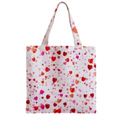 Heart 2014 0602 Zipper Grocery Tote Bags