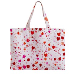 Heart 2014 0602 Zipper Tiny Tote Bags