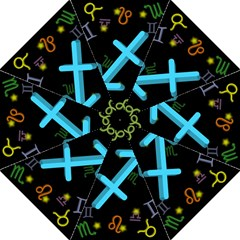 Sagittarius Floating Zodiac Sign Straight Umbrellas