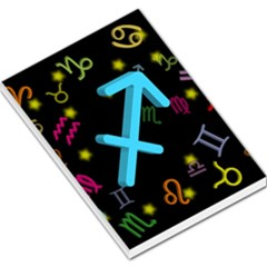 Sagittarius Floating Zodiac Sign Large Memo Pads