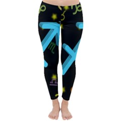 Sagittarius Floating Zodiac Sign Winter Leggings