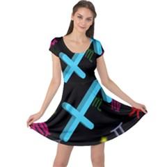Sagittarius Floating Zodiac Sign Cap Sleeve Dresses