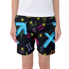 Sagittarius Floating Zodiac Sign Women s Basketball Shorts