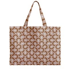 Retro Mirror Pattern Brown Zipper Tiny Tote Bags