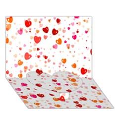 Heart 2014 0603 Heart Bottom 3D Greeting Card (7x5)
