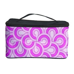 Retro Mirror Pattern Pink Cosmetic Storage Cases