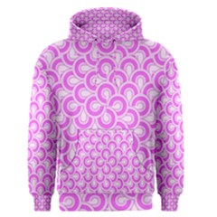 Retro Mirror Pattern Pink Men s Pullover Hoodies