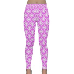 Retro Mirror Pattern Pink Yoga Leggings