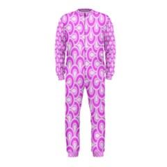 Retro Mirror Pattern Pink OnePiece Jumpsuit (Kids)
