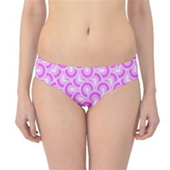 Retro Mirror Pattern Pink Hipster Bikini Bottoms