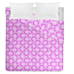 Retro Mirror Pattern Pink Duvet Cover (full/queen Size)