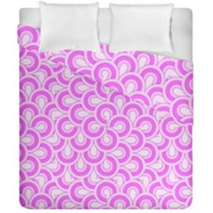Retro Mirror Pattern Pink Duvet Cover (double Size)