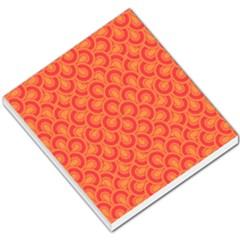 Retro Mirror Pattern Red Small Memo Pads