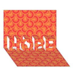 Retro Mirror Pattern Red Hope 3d Greeting Card (7x5)