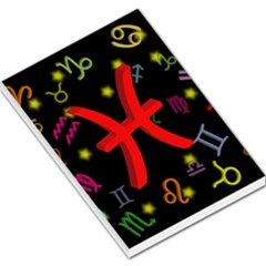 Pisces Floating Zodiac Sign Large Memo Pads