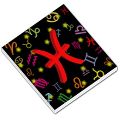 Pisces Floating Zodiac Sign Small Memo Pads
