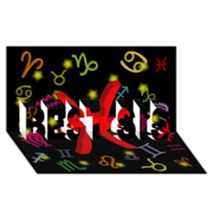 Pisces Floating Zodiac Sign Best Sis 3d Greeting Card (8x4)