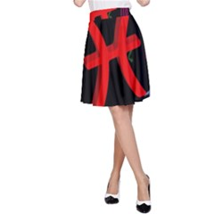 Pisces Floating Zodiac Sign A-Line Skirts
