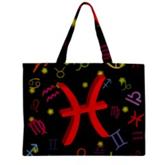 Pisces Floating Zodiac Sign Zipper Tiny Tote Bags