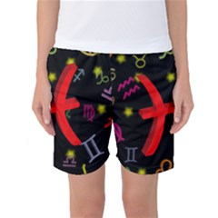Pisces Floating Zodiac Sign Women s Basketball Shorts
