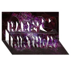 Space Like No.1 Happy Birthday 3D Greeting Card (8x4)