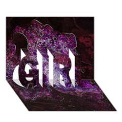Space Like No.1 GIRL 3D Greeting Card (7x5)