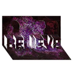 Space Like No.1 BELIEVE 3D Greeting Card (8x4)