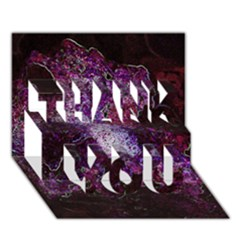 Space Like No.1 THANK YOU 3D Greeting Card (7x5)