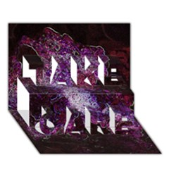 Space Like No.1 TAKE CARE 3D Greeting Card (7x5)