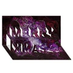 Space Like No.1 Merry Xmas 3D Greeting Card (8x4)