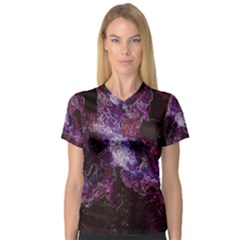 Space Like No.1 Women s V-Neck Sport Mesh Tee