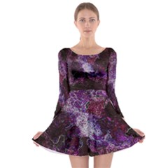 Space Like No 1 Long Sleeve Skater Dress
