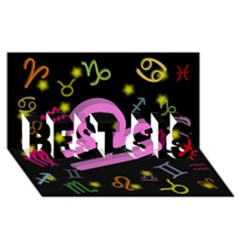 Libra Floating Zodiac Sign Best Sis 3d Greeting Card (8x4)